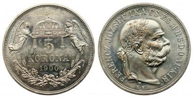 Ferenc József 5 korona 1900 KB utánveret