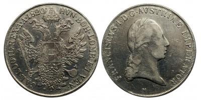 I.Ferenc tallér 1820 M
