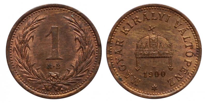 Ferenc József 1 fillér 1900 KB