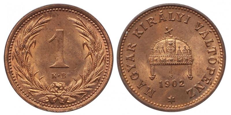 Ferenc József 1 fillér 1902 KB