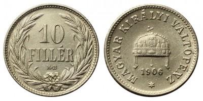 Ferenc József 10 fillér 1906 KB R