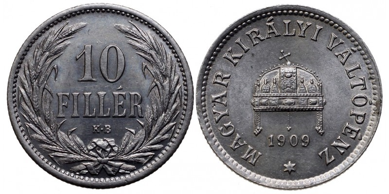 10 Fillér 1909 KB.