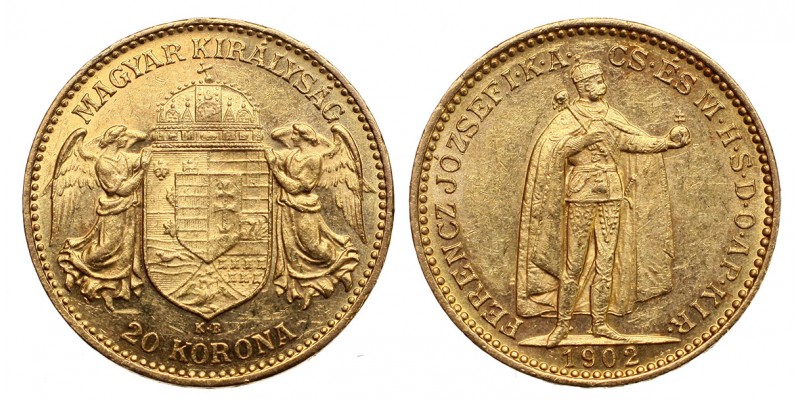 Ferenc József 20 korona 1902 KB