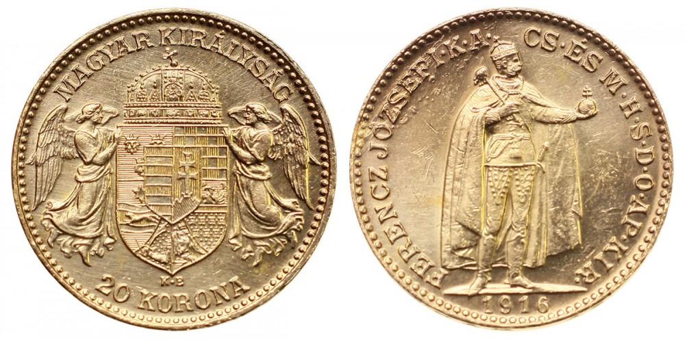 Ferenc József 20 Korona 1916 KB. Bosznia RR
