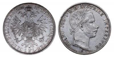 Ferenc József gulden 1860 A