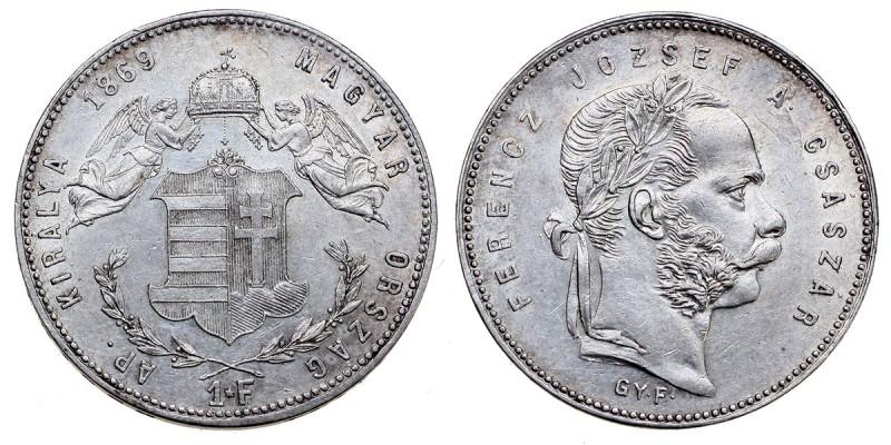 Ferenc József 1 Forint 1869 GYF