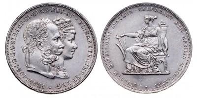 Ferenc József Ezüstlakodalom 2 gulden 1879