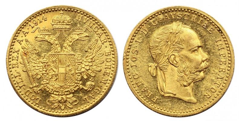 Ferenc József dukát 1914 vjn.