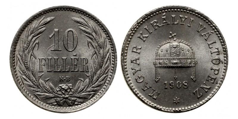 Ferenc József 10 fillér 1908 KB