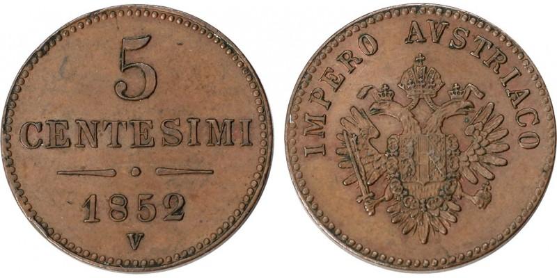 Austria Lombardia 5 centesimi 1852 V Velence