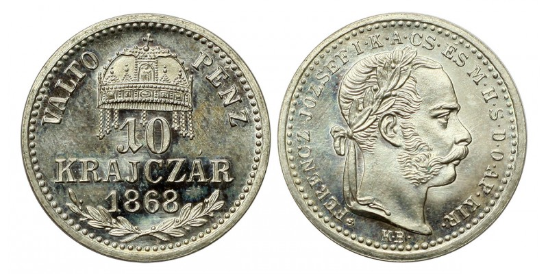 Ferenc József 10 krajcár 1868 VP KB. UV