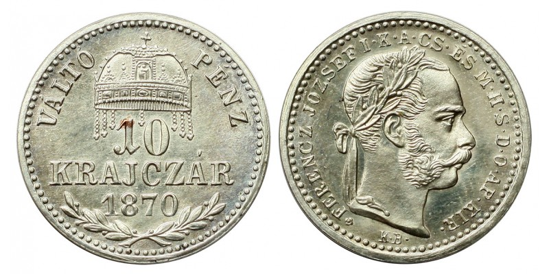 Ferenc József 10 krajcár 1870 VP KB. UV