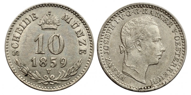 Ferenc József 10 krajcár 1859 V