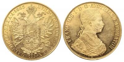 Ferenc József 4 dukát 1863 A R!