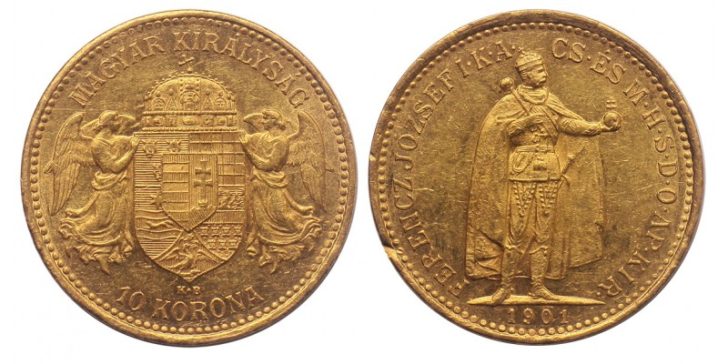Ferenc József 10 korona 1901 KB