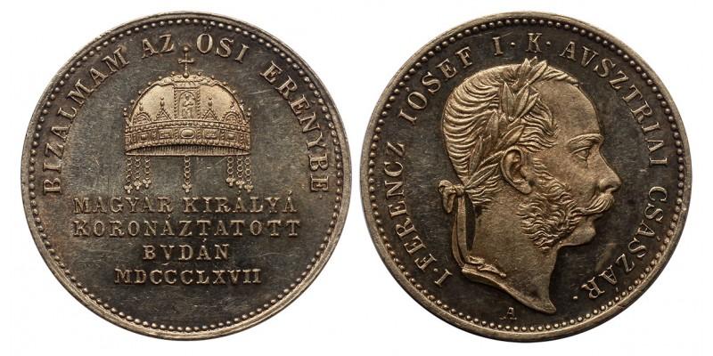 Ferenc József  koronázási zseton 1867 Buda