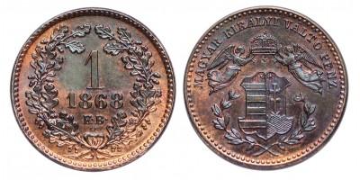 Ferenc József 1 Krajcár 1868 KB. Artex veret