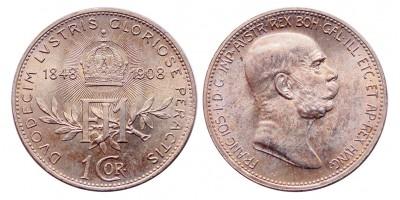 Ferenc József 1 korona 1908 vjn.