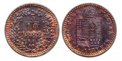 5/10 Krajcár 1882 KB ARTEX UV.