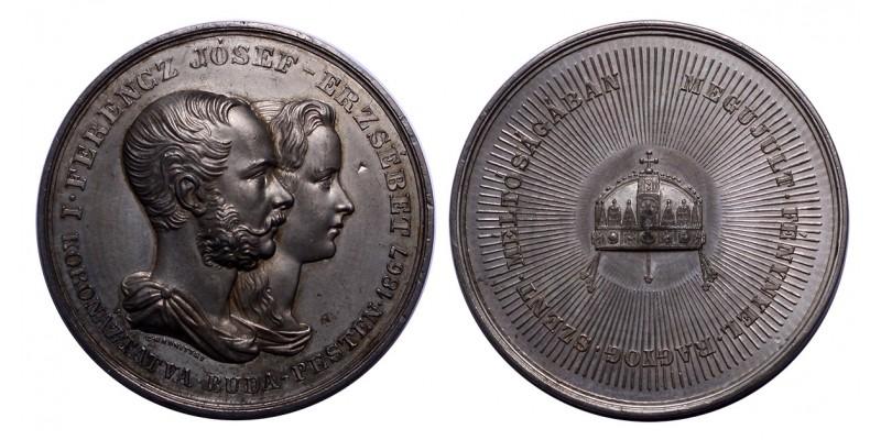 Ferenc József és Erzsébet budai koronázására 1867 emlékérem