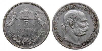 Ferenc József 5 Korona 1908