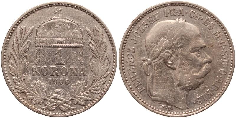 Ferenc József 1 korona 1906 KB R!