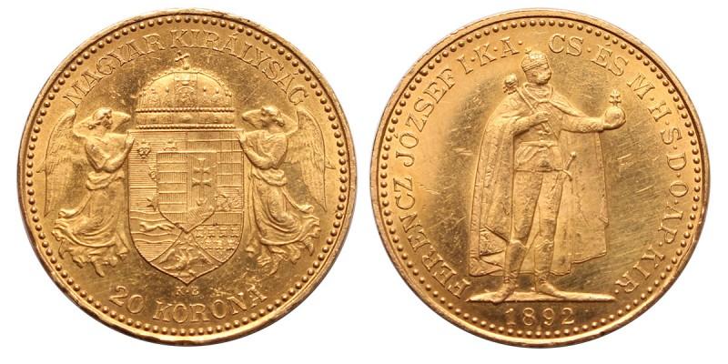 Ferenc József 20 korona 1892 KB.