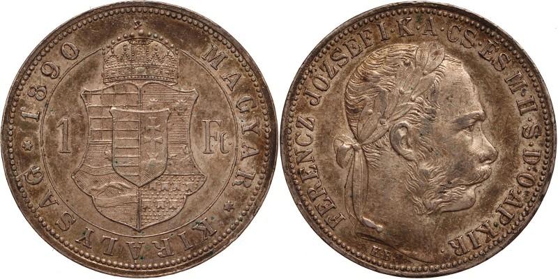 Ferenc József 1 forint 1890 KB