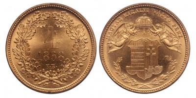 Ferenc József 4 Krajcár 1868 Artex