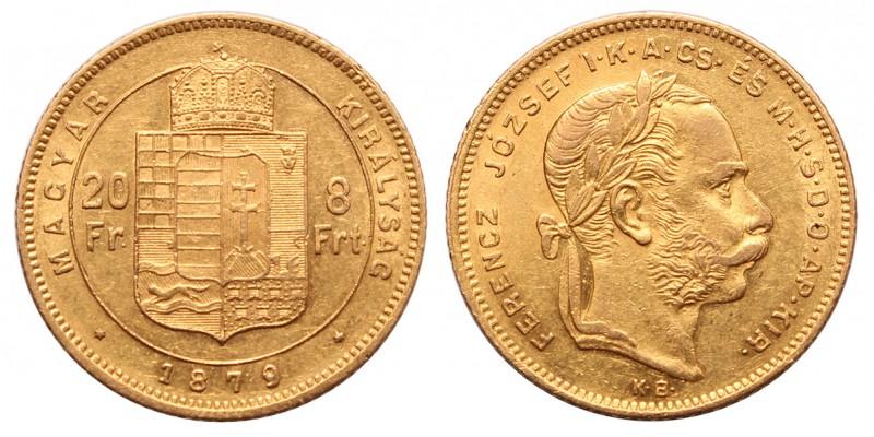 Ferenc József 8 forint 1879 KB.