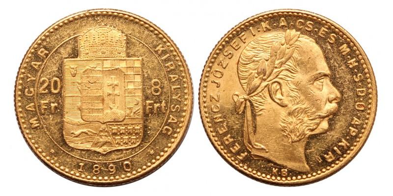Ferenc József  8 forint 1890 KB.
