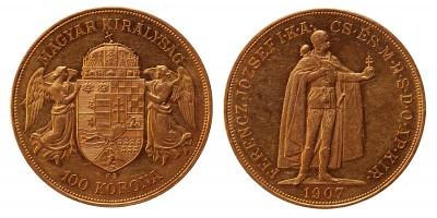 Ferenc József 100 korona 1907 KB, RR!