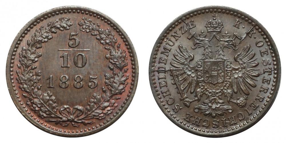 5/10 Krajcár 1885