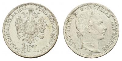 Ferenc József 1/4 florin 1862 A