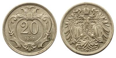 Ausztria 20 Heller 1907