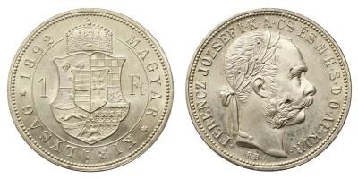 Ferenc József 1 Forint 1892 Artex