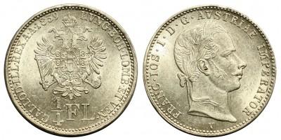 Ferenc József 1/4 florin 1859 V