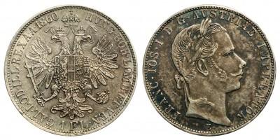 Ferenc József  1 florin 1860 E