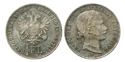 Ferenc József 1/4 florin 1864 A