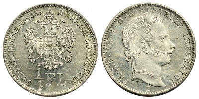 Ferenc József 1/4 florin 1859 B