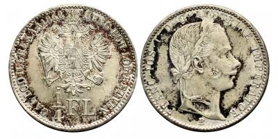 Ferenc József 1/4 florin 1862 B