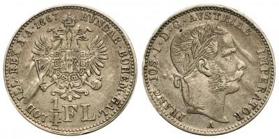Ferenc József 1/4 florin 1867 A
