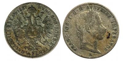 Ferenc József 1/4 florin 1857 E RRR!