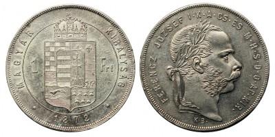 Ferenc József 1 Forint 1872 KB