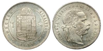 Ferenc József 1 Forint 1874 KB