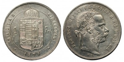 Ferenc József 1 Forint 1876 KB