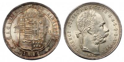 Ferenc József forint 1881 KB