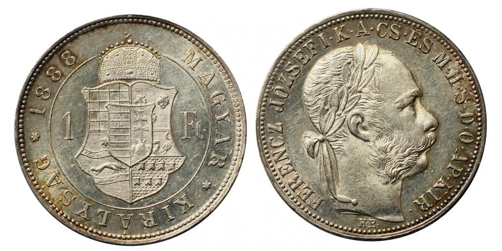 Ferenc József 1 Forint 1888 KB