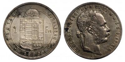 Ferenc József 1 Forint 1880 KB