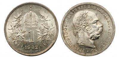 Ferenc József 1 korona 1902 vjn.